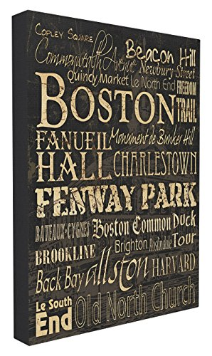 The Kids Room by Stupell Boston Words and Cities Typography Wall Plaque Art, 24