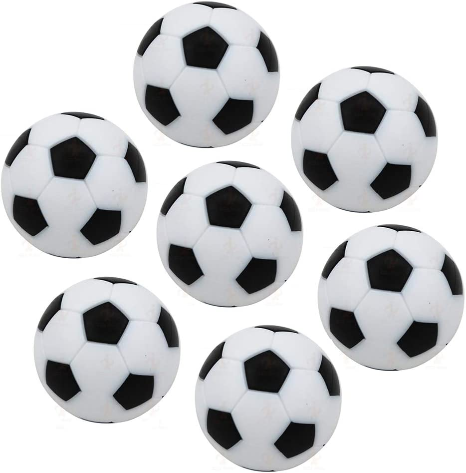 Lezed 7 Piezas Mini 32 mm Mesa Futbolín Mesa Futbolín 32 mm Fútbol de Mesa Reemplazos Balones de Fútbol Pelota de Recambio de Protección Ambiental de Plástico Bolas ...
