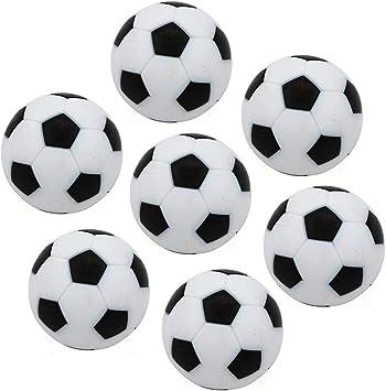 Lezed 7 Piezas Mini 32 mm Mesa Futbolín Mesa Futbolín 32 mm Fútbol de Mesa Reemplazos Balones de Fútbol Pelota de Recambio de Protección Ambiental de Plástico Bolas de Repuesto para Futbolín: