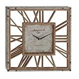 Deco 79 84206 Metal and Wood Wall Clock, 22″ x 22″, Gray/Black/Brown Review