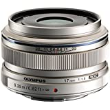 Olympus M.Zuiko 17mm f1.8 (Silver) for Olympus and Panasonic Micro 4/3 Cameras - International Version (Seller Warranty)