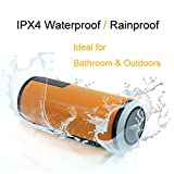Bluetooth Speaker, Basstyle Universal Portable IPX4 Water Resistant Wireless Speaker CSR 4.0 Bluetooth Speakerphone for Outdoors Sports Riding Camping BBQ and Home Kitchen Bath Shower (TB-26S Orange)