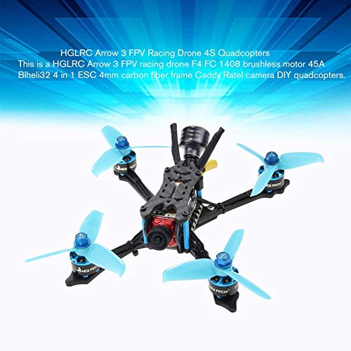 Wikiwand HGLRC Arrow 3 FPV Racing Drone 4S BNF Quadcopters with Flysky A8S V2 Receiver by Wikiwand (Image #4)