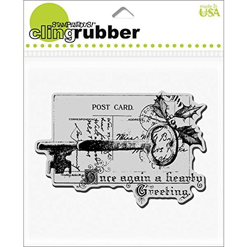 STAMPENDOUS Cling Rubber Stamp, Cling Key Note (Stampers Best Cling Cushion)