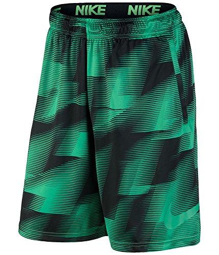 NIKE Mens Jersey Printed Shorts Green L