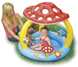 Best Intex 1 Year Old Outside Toys - INTEX Mushroom Inflatable Baby Wading Swimming Pool | Review