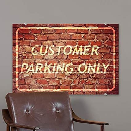 36x24 Customer Parking Only CGSignLab 2468252/_5absw/_36x24/_None Victorian Frame Premium Acrylic Sign