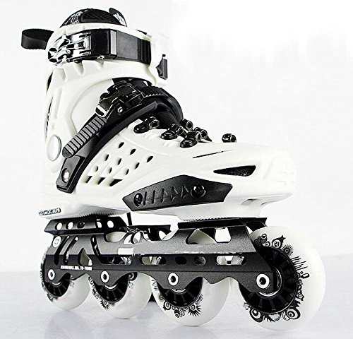 In Line Racing Skates - Inline Skates For Men Unisex Racing PP Material PU Perfusion Wheel White , 43
