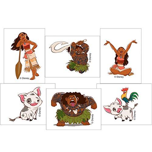 SmileMakers Moana Movie Temporary Tattoos - Prizes 144 per Pack by SmileMakers (Image #1)
