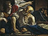 Oil Painting 'Guercino Saint Peter Freed By An Angel 1620 23', 8 x 10 inch / 20 x 27 cm , on High Definition HD canvas prints is for Gifts And Basement, Bed Room And Nursery Decoration