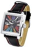[Michel Jordan] michel Jurdain watch sports diamond leather Square Face automatic multi-color index EG-5500-2 Men's
