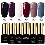 Azure Beauty Classic Gel Nail Polish Set, Elegant Colors Soak off UV LED Gel Polish