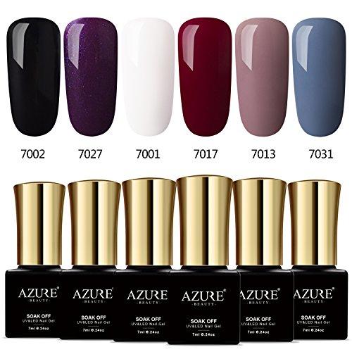 Azure Beauty Classic Gel Nail Polish Set, Elegant Colors Soa
