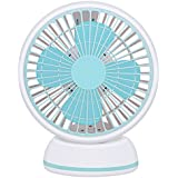 USB Desk Fan, Yopin 7 360° Rotation Personal Table Fan USB Desktop Fan for Office / Home / Study - Blue