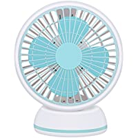 LIANGSM Quiet Desk Fan USB Mini Fan Personal Desk Fan with 3.6ft Retractable USB Cable for Baby Room,Office