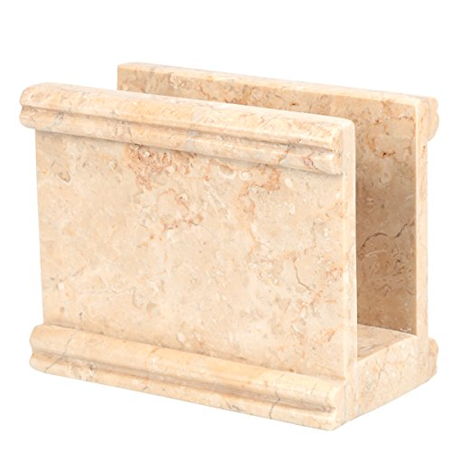 Creative Home Natural Champagne Marble Stone Napkin Holder, Stand, Dispenser, Column Collection