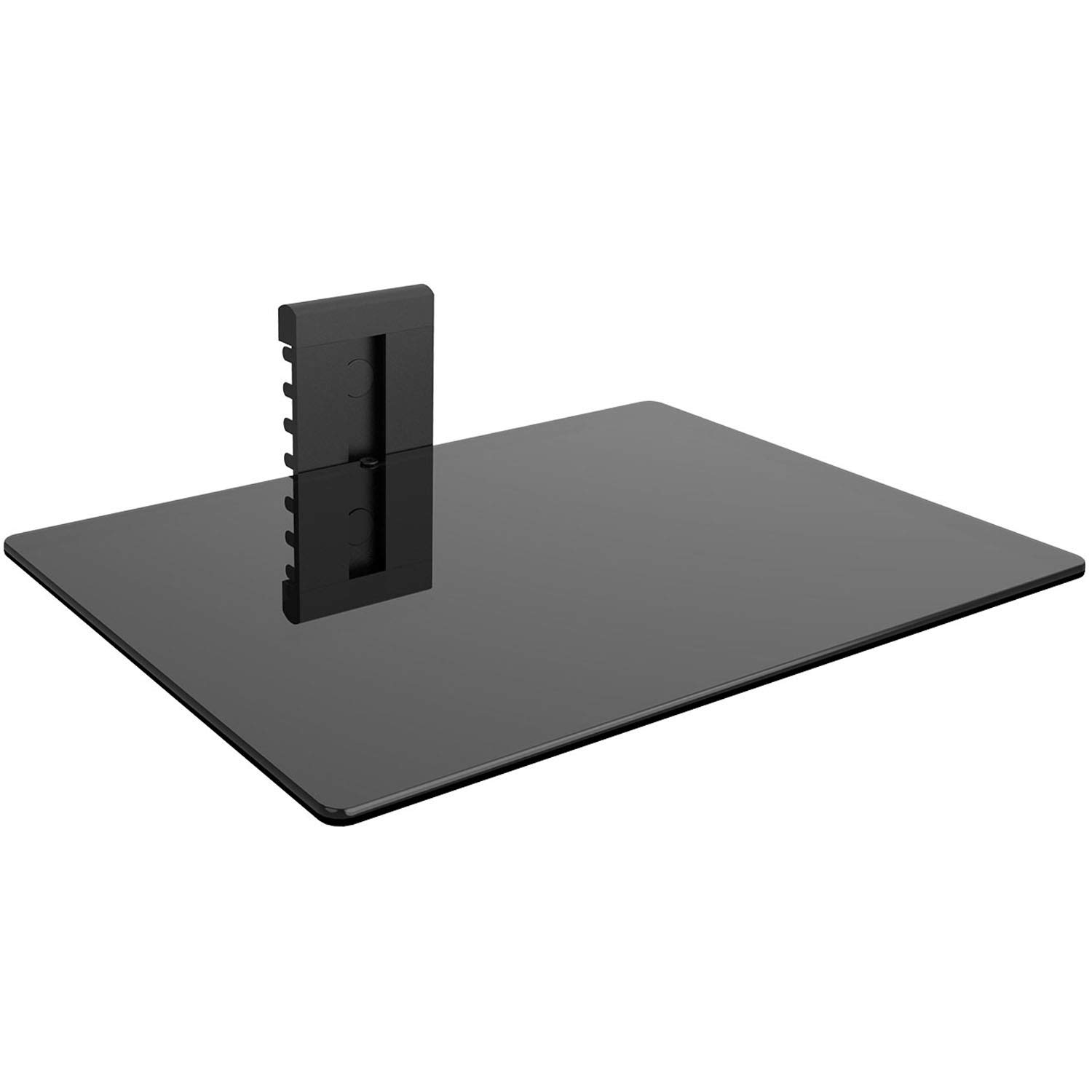 WALI CS201-1 Floating Wall Mounted Shelf with Strengthened Tempered Glasses for DVD Players,Cable Boxes, Games Consoles, TV Accessories, 1, Black by WALI