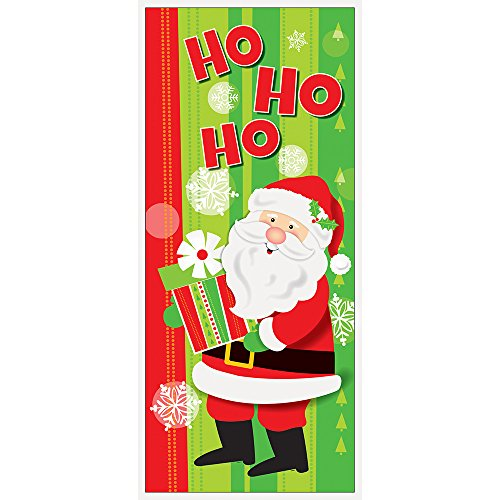 Plastic Happy Santa Christmas Door Poster, 60