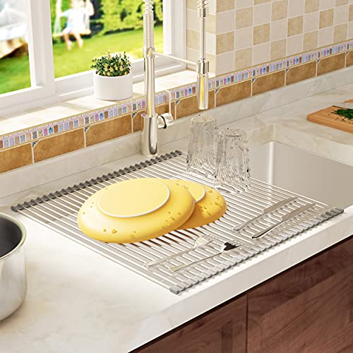 Roll Up Dish Drying Rack- Over the Sink Dish Drying Rack