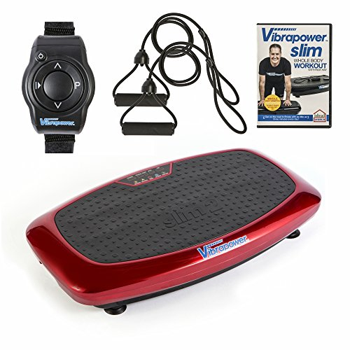Vibrapower Slim 2 Power Vibration Plate Trainer with Free DVD, Resistance...