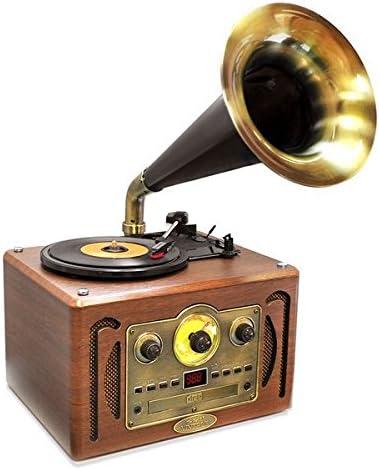 Pyle pvnp30bt Vintage clásico Retro estilo cuerno fonógrafo ...