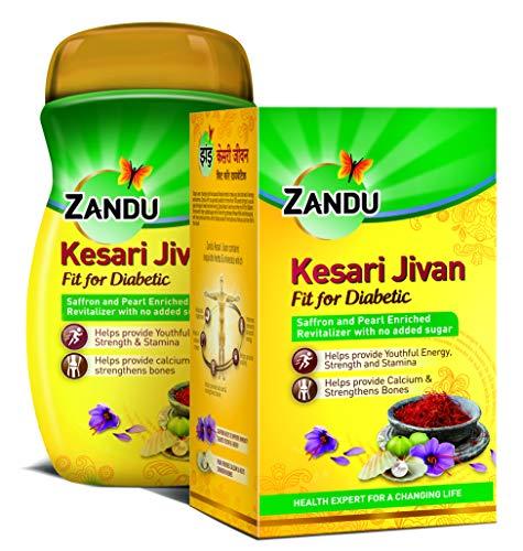 ZANDU KESARI JIVAN Fit for Diabetic, Ayurvedic Immunity Booster for Adults and Elders, Builds Energy, Strength & Stamina…