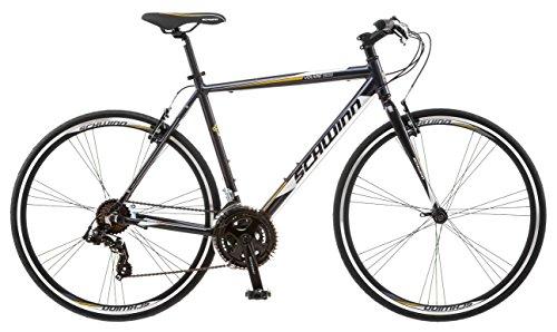 Schwinn Volare 1200 Road Bike, 700c/28 inch wheel size, Grey Gray, fitness bicycle, 53cm/Medium Frame Size