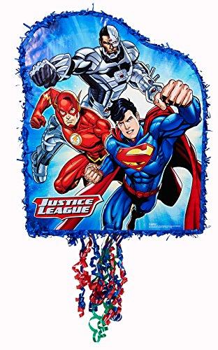 Ya Otta Pinata Justice League Pull String Pinata, Multi-colored, One Size -