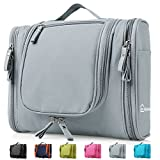 Heavy Duty Waterproof Hanging Toiletry Bag - Travel Cosmetic Makeup Bag for Women & Shaving Kit...