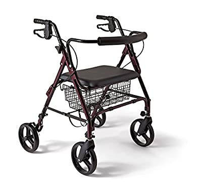 Medline Bariatric Rollator Walker/Seat 400 lb Capacity