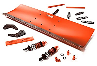 Integy Hobby RC Model C27055RED Alloy Machined Snowplow Kit for Traxxas X-Maxx 4X4