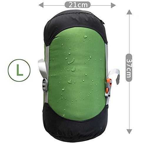 WIND HARD Compression Stuff Sack Waterproof Sleeping Bag Compression Stuff Sack Pack Storage Bags 5 Size ()