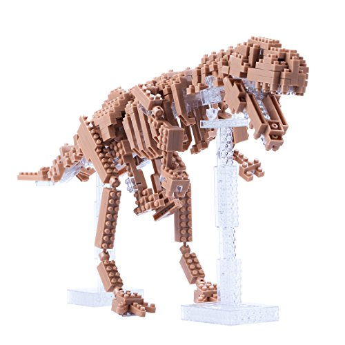 Dinosaur Building Blocks Set 580 PCS, Dinosaur Skeleton Model Diamond Blocks Dinosaur Modeling Toys Dinosaur Fossils Educational Puzzle Toys for Adults Kids Over 15 Years Old by Daxin DX -