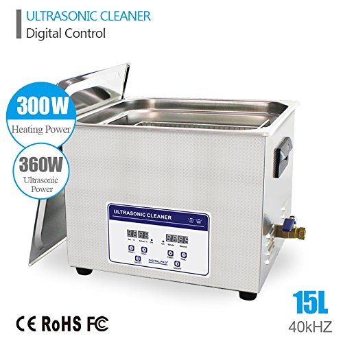 15L Professional Ultrasonic Cleaner Industrial/Commercial component/ Auto Engine Parts/Auto/Moto parts/Car Accessories Cleaning /Hospital Medical equipment/Devices Cleaning by eBelt Industrial