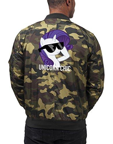 Unicorn Chic Bomberjacke Camouflage Certified Freak