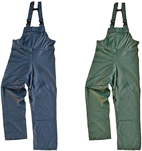L, NAVY Air-Flex Waterproof Windproof BREATHABLE Bib N Brace Dungaree Overalls Lightweight Fort By Fortress S-XXL