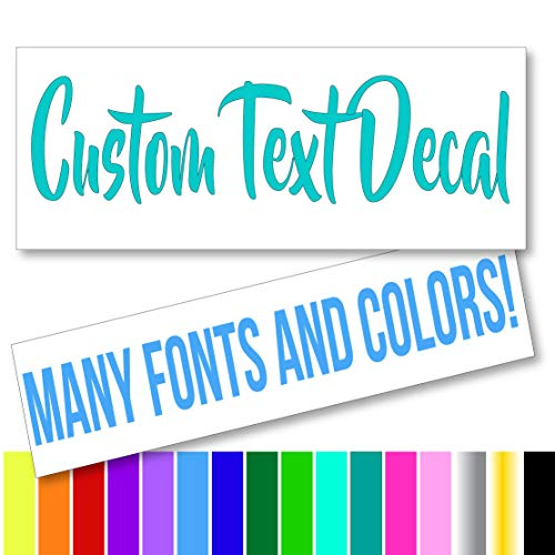 custom text vinyl decal - 3
