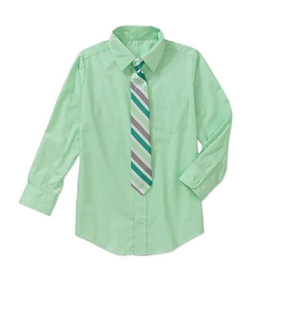 Unbekannt - Camisa - para niño Verde Verde Manzana: Amazon.es: Ropa y accesorios