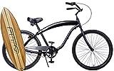Cheap Anti rust light weight aluminum alloy frame Fito Modena II alloy Shimano 3 speed 26″ wheel mens beach cruiser bike all matte black