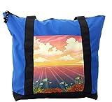 Lunarable Nautical Shoulder Bag, Marine Wildlife Fish Swim, Durable with Zipper