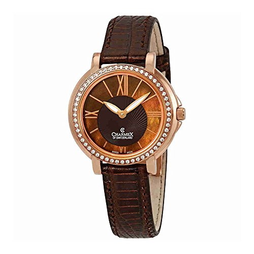 Charmex Malibu Crystal Brown Dial Ladies Watch 6418
