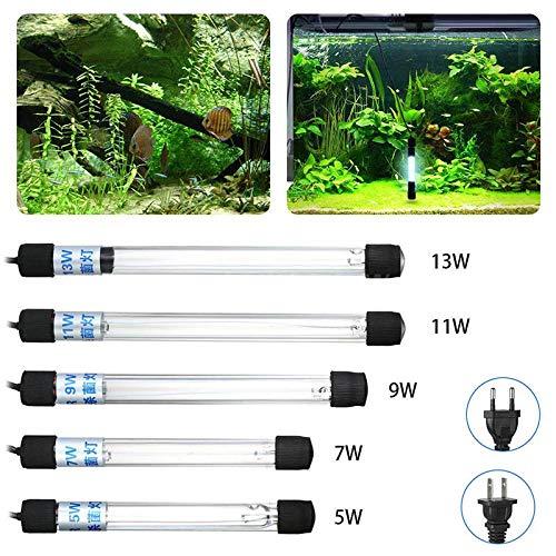 Majome Acuario UV esterilizador luz Sumergible Agua Limpia la l/ámpara para Estanque de Peces Estanque US//EU Enchufe
