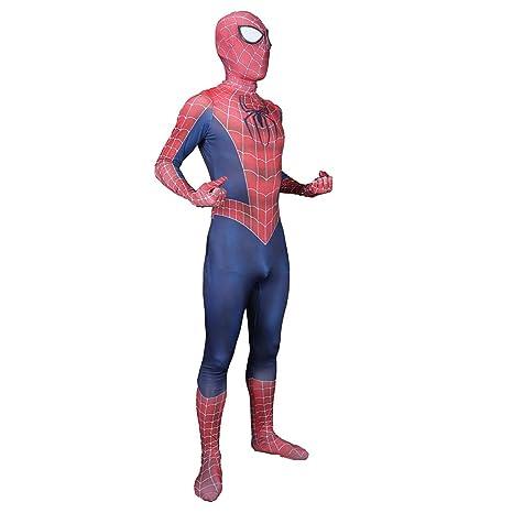 NDHSH Adulto clásico Spiderman Elasticidad Mono Traje Fiesta ...