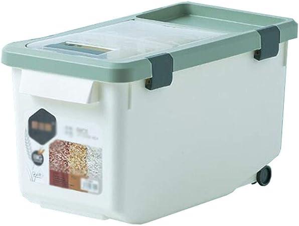 Caja plastico almacenaje, Contenedores de almacenamiento de alimentos con tapas, cocina Contenedor de alimentos Caja de almacenamiento de arroz 10 kg / 15 kg Sello de plástico Contenedores de cereales: Amazon.es: Hogar