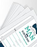 Little Man Themed Baby Shower Invitations, Set of