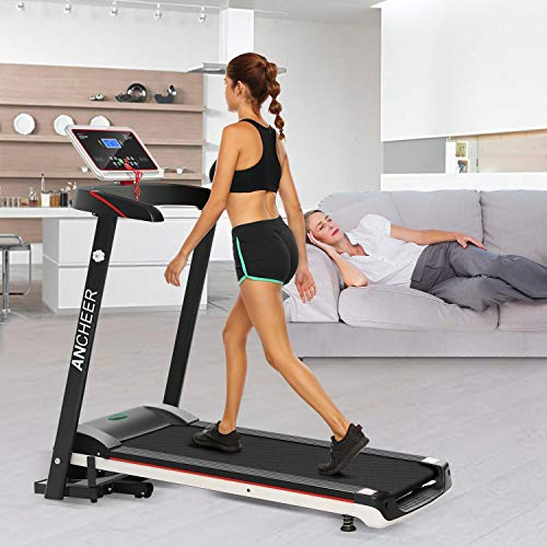 Bulges Fitness Folding Electric Treadmill Exercise Equipment Walking Running Machine Gym Home(US Stock)