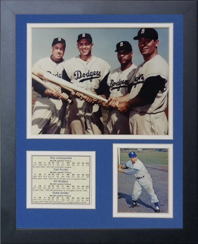 Legends Never Die Brooklyn Dodgers 50's Big Four Framed Photo Collage, 11 by 14-Inch by Legends Never Die