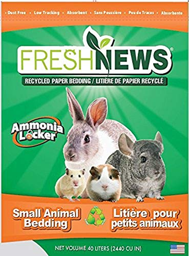 Fresh News Paper Small Animal Bedding, 40,000-Cubic Centimeter