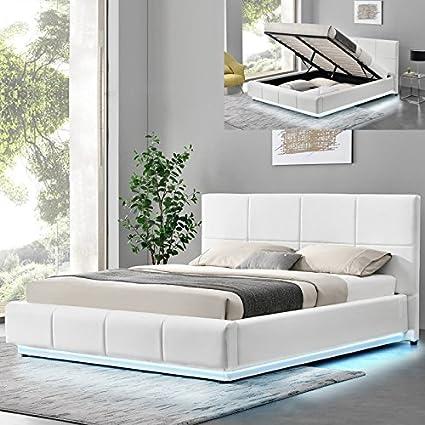 Meubler Design Cama Design Alexi con somier y Baúl de ...