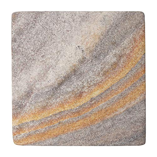 Coasters Natural Absorbent Sandstone (Stella Purple Desert Sandstone Sealed Natural Stone Drink Coasters 4